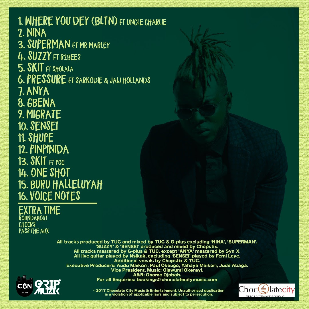 Yung L 'Better Late Than Never' Track List